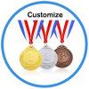 Medaglie su ordinazione di gioco del calcio di sport dei trofei e delle medaglie dell'oro olimpico