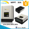 MPPT 30A 12V/24V/36V/48Vの最大150Vによって入れられる太陽コントローラSch-30A-H