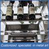 Cremagliera personalizzata del vino dell'acciaio inossidabile con i vetri Tempered