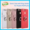 광택이 없는 반지는 Huawei P9/P9plus를 위한 홀더 기갑 전화 상자를 버클을 채운다