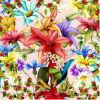 Lenço de seda da seda do quadrado da flor da cópia de 100% Digital