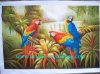 油絵、動物の油絵、オウムの油絵(UN-PARR9239)