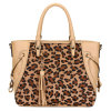 Borse di cuoio delle donne del progettista di marca di modo del leopardo (MBLX033103)