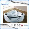 角の白い渦のマッサージの浴槽(AB0839)