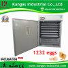 Prix automatique d'incubateur d'oeufs de volaille de capacité d'oeufs de la vente en gros 1232