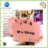 Saco de empacotamento de papel cor-de-rosa bonito personalizado (JP-PB019)