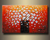 Pintura al óleo de la flor/arte floral de la lona (FL1-052)