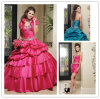 Heißes Sale Zoll-bildete Sweetheart Beaded Jacket Quinceanera Dress mit Detachable Skirt (SR34)