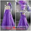 Império Shinning vestido de casamento/Noite Dress (F-109)
