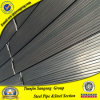 Rectangular de tubo de acero templado de color negro, estructurales de acero de sección rectangular hueca