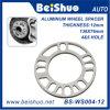 espaciador Eje-Céntrico del adaptador del aluminio 4+5 de 12m m de la rueda auto gruesa de los orificios