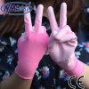 Перчатка работы женщин PU Nmsafety розовым покрынная полиэфиром