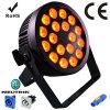 Ce approuvé 18 RGBWA UV 6in1 LED PAR Can Stage Light avec boîtier moulé en aluminium moulé et Powercon