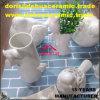 regalo di ceramica della decorazione del giardino del vaso delle statue del Figurine dell'uccello della porcellana bianca dB1082