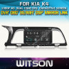 Reprodutor de DVD do carro de Witson para KIA K4 com sustentação do Internet DVR da ROM WiFi 3G do chipset 1080P 8g