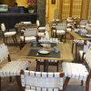 Restaurante Branco Estilo de tecelagem de mesa e cadeira de madeira (SP-CS388)