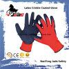 перчатка безопасности Nylon Crinkle латекса ладони 13G Coated