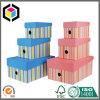 Rectángulo de almacenaje rígido de la casa del papel de la cartulina de la tapa desmontable