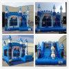 Brinquedos congelados infláveis dos desenhos animados infláveis Frozen da corrediça, corrediça de salto congelada do Bouncer