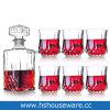 6PCSガラスのタンブラーが付いている高品質850mlの水晶ウィスキーのガラスビン