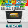 Witson S160 Car DVD GPS Player per BMW 1 Series E81 E82 E83 E87 E88 116I 118I con Rk3188 Quad Core HD 1024X600 Screen 16GB Flash 1080P WiFi 3G Front (W2-M170)