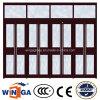 ガラス別荘の家の機密保護の入口の鋼鉄ガラスドア(W-GD-38)