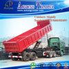 2 Aanhangwagen van de Vrachtwagen van de Aanhangwagen van de Stortplaats van het Eind van de as de Semi
