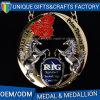 Medaglia di rame antica personalizzata del metallo di sport con il nastro variopinto