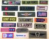 Emblemi lavabili dei militari del ricamo di Customed