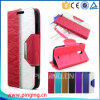 Hit Colors Bling Metal Walllet Leather Phone Case for Lanix X200