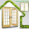 La rotura termal de los E.E.U.U. de aluminio escoge la puerta con bisagras para la casa de gama alta, puerta francesa con la parrilla dividida llena hermosa