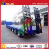 4 Aanhangwagen van de Lader van de Vrachtwagen van Lowbed van de as de Semi Lage met Helling