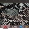 Cuoio di cuoio del PVC del serpente di Hometextile del PVC lucido /Hangbag della decorazione e della mobilia