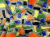 Pelliccia multicolore di falsificazione del jacquard