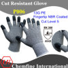 13G PE вязаные рукавицы с NBR покрытием Fingertip/ EN388: 454 X