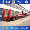 3axles China Cimc hydraulischer niedriger Bett-Schlussteil