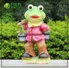 Jardim de trabalho árduo de resina Frog Figurine (NF14127-3)