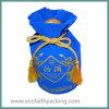青く高貴なビロードのドローストリングのギフト袋のビロードのギフト袋
