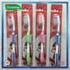 Toothbrush di nylon della setola degli adulti con la maniglia antiscorrimento