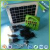 sistema casero solar portable 15W con la radio