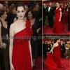 Vestido de noite vermelho do Um-Ombro (OS-010)