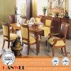 セットのダイニングテーブルおよび椅子の木の家具の食事
