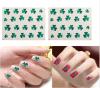 Зеленый стикер ногтя стикеров искусствоа ногтя переноса воды Shamrock