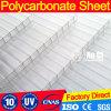 10 años de la garantía del claro del policarbonato del gemelo de hoja de pared