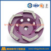 Roda de moedura espiral das ferramentas do diamante da fileira de Turbo para o concreto e o mármore de lustro