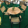 Meubles de jardin en bois MDF de table et chaise Set (LL-RST010)