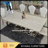Mesa de jantar de mármore grande e comercial para móveis de casa