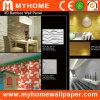 O material de construção do painel de parede em 3D, 3D interior de parede de bambu