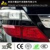 De fibra de carbono de la lámpara de coche accesorio luz titular proteger la luz