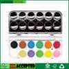 Surtido seco Pan Pasteles Acuarela pintura paquete de 12 W / cepillo de pintura